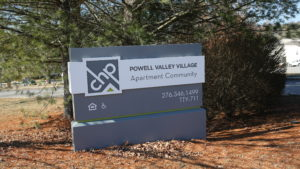 Powell Valley Village Sign